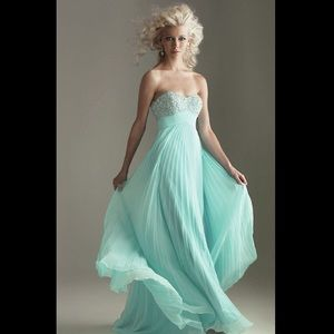 Night Moves Pleated Sweetheart Neckline Prom Dress
